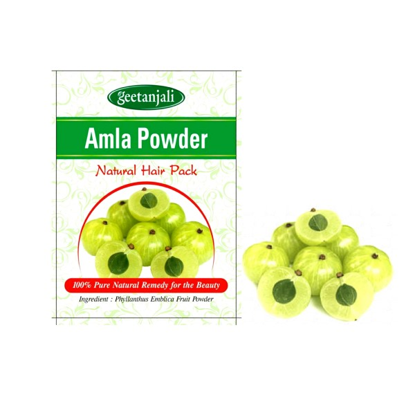 GEETANJALI AMLA POWDER - 100G - NATURAL HAIR PACK.