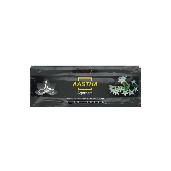 PATANJALI AASTHA AGARBATTI NIGHT QUEEN - 20G - (PACK OF 10)