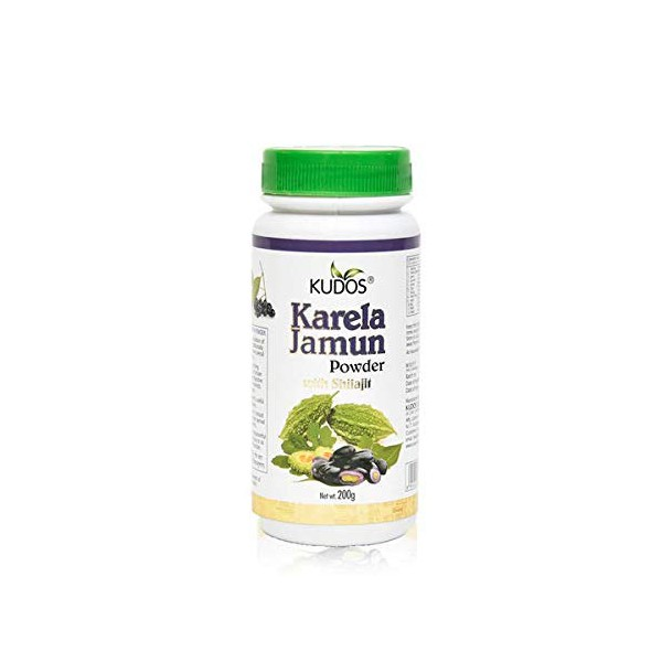 KUDOS KARELA JAMUN POWDER WITH SHILAJIT - 200GM.